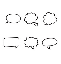 Cartoon text boxes with isolated white background vector