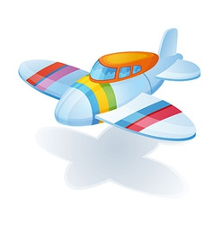 Toy airplane vector