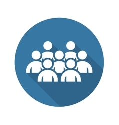 Business conference icon online learning flat vector