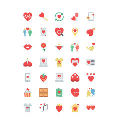 Valentine colored icons 2 vector
