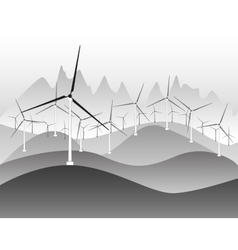 Wind electricity generators and windmills vector