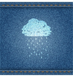 Jeans Autumn Banner vector image