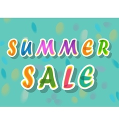 Summer sale watercolor artuistic font vector