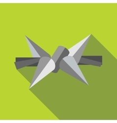 Barbed wire icon in flat style vector