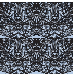 Abstract black lace blue moire pattern vector