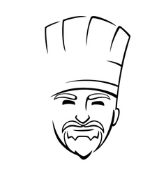 Bearded chef with a toque vector image vector image