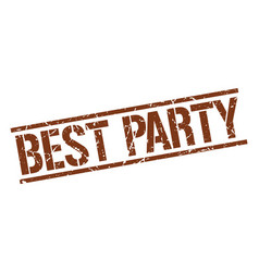 Best party stamp vector