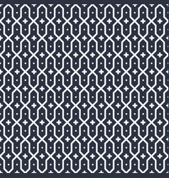 black and white arabic background vector image vector image
