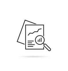 Black linear document like auditing vector