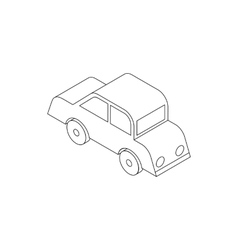 Car icon isometric 3d style vector image