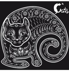 cat on black3mm vector image