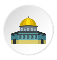 Dome of the rock on temple mount icon circle vector