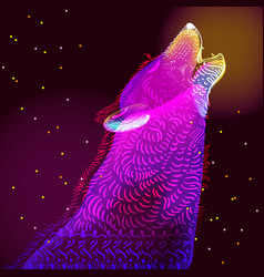 Doodle wolf vector