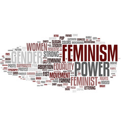Feminism word cloud concept vector