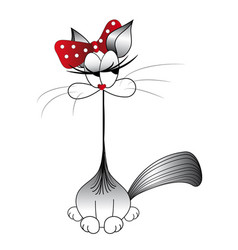funny cat cat stylized vector image