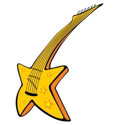 Guitar with stars vector image vector image