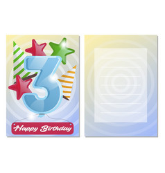 Happy birthday kids postcard set vector