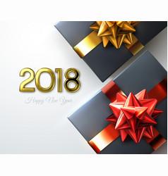 happy new 2018 year vector image vector image