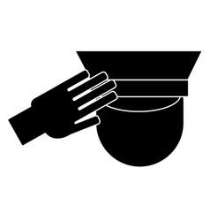 Icon of a saluting serviceman vector