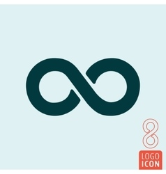 Infinity icon isolated vector image