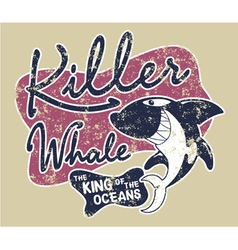 Killer whale badge vector image
