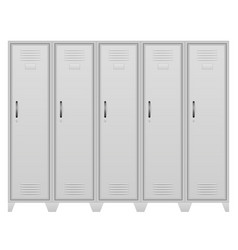 metallic lockers stock vector image