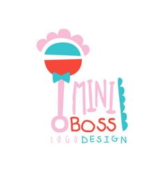 Mini boss logo original design with abstract vector