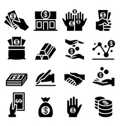 money asset icon vector image vector image