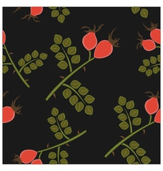 Seamless pattern rosehip vector