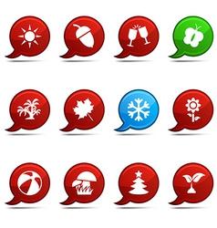 Seasons comics vector image vector image
