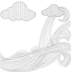 sky with clouds bonnet vector image vector image