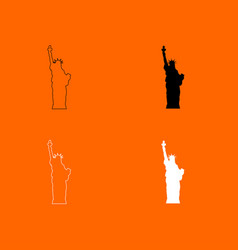 statue of liberty icon vector image