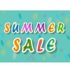 Summer sale watercolor artuistic font vector
