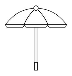 Sun umbrella icon outline style vector