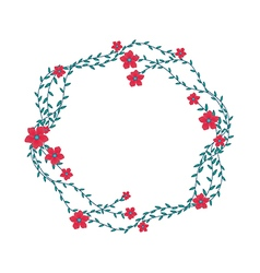 The floral concept of circle frame vector image vector image