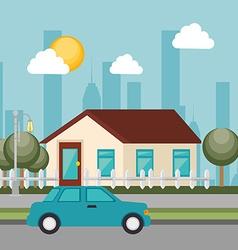 Urban buildings graphic vector image