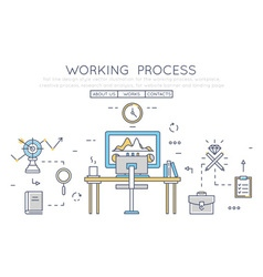 Working process vector image vector image