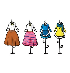 Garments display vector