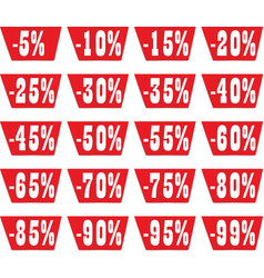 Discount label set for design vector