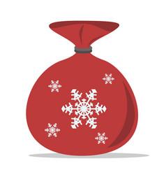 christmas sack of santa vector image