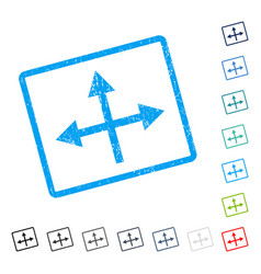 Intersection directions icon rubber watermark vector