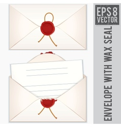 Sealed and opened envelope with blank letter vector