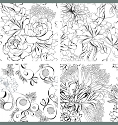 set of seamless wallpaper vector image