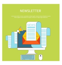 Web contact and business newsletter vector