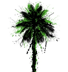 grunge palm vector image