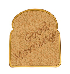 Morning toasted bread concept with toast text vector