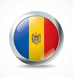 Moldova flag button vector image