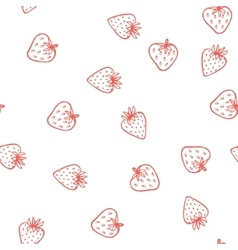 Strawberry seamless pattern cute tasty vector
