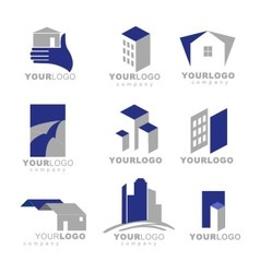 Building apartment logos vector