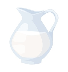Milk jug vector